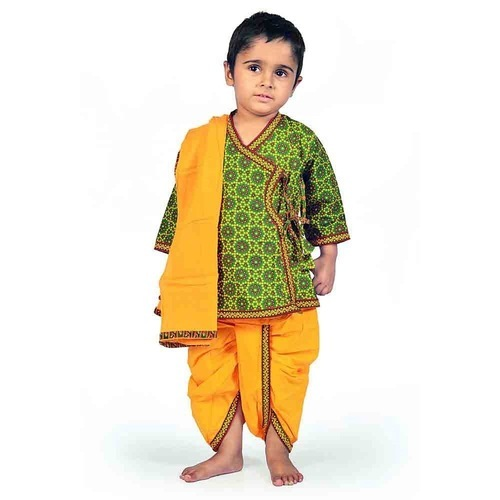 Cotton Dhoti Angrakha Set 202, Age Group: 2.5-3 years