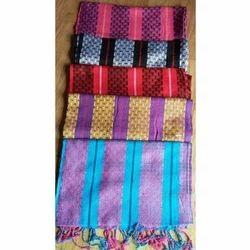 Viscose Yarn Dyed Dobby Shawls With Fringes