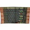 Party Wear Printed Ladies Meena Work Silk Saree, 5.5 M