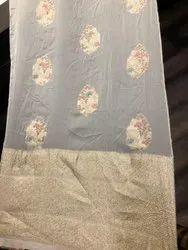 44-45 Viscose Organza Silk Jacquard Fabric