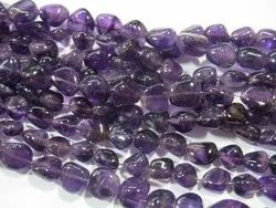 African Amethyst Smooth Tumble Stone Bead Strands