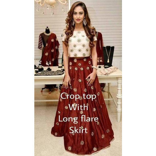 Crop Top With Long Flared Skirts 0838778ee5ca