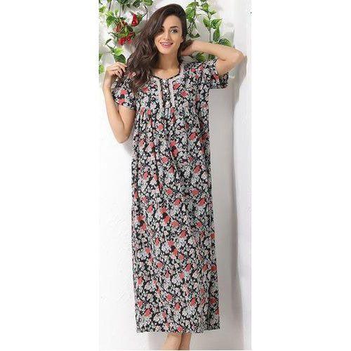 58ad57b905 Semi-Stitched Printed Women Cotton Nighty, Rs 150 /piece | ID ...