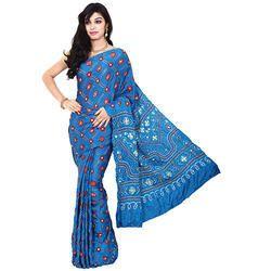 Bandhej Print Saree