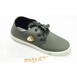 Plain Lace Grey Casual Shoes, Model Number: Magnet, Packaging Type: Box