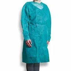 Full Sleeves Sky Blue Pharma Line Apron Coat, For Workwear