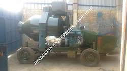 Mini Mobile Concrete Batching Plant With Diesel Engine