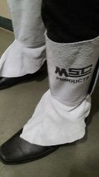 Leather Leg Guard For Welders By MSC