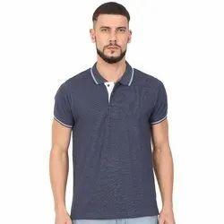 Men's Half Sleeve Cotton Polo Neck T-Shirt
