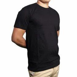 Mens Black Round Neck T Shirts