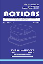 Notions A Journal Of English Literature