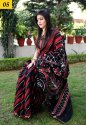 Batik Printed Chanderi Silk Saree