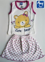 Baby Girls Top & Bottom Sets - Basicwear (Style No. B71)