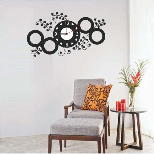 designer sticker wall clock at rs 200 /piece | wall stickers | id