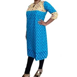 Casual Wear Straight Ladies Designer Jaipuri Cotton Kurti, Wash Care: Machine wash