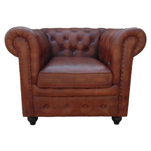 Groovy Low Back Leather Chesterfield Club Armchair In Brown Gmtry Best Dining Table And Chair Ideas Images Gmtryco