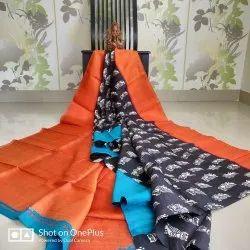 Party Wear Murshidabad Silk Pure Mursidabad Silk Saree, 6.3 m (with blouse piece)