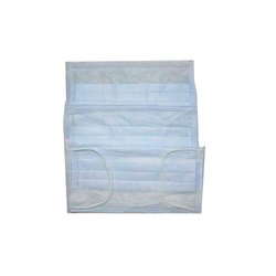 Disposable Sky Blue Nonwoven Earloop Face Mask, Packaging Type: Poly Bag