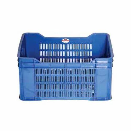 Vectus Rectangular Plastic Crates for Storage