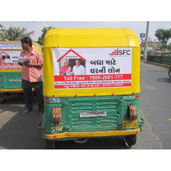 Rectangle Polyester Auto Rickshaw Ads, For Advertising, Size: 3 Ft X 1.5 Ft