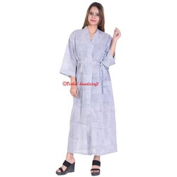 Women's Cotton Long Kimono Bath Robe
