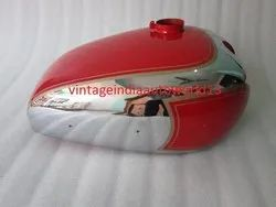 New Panther M100 600cc Red Painted Chrome Petrol Tank 1947-1953 (Reproduction)