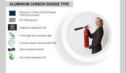 Intime CO2 Based Aluminium Body Carbon Dioxide Type Fire Extinguishers, For Industrial Use, Capacity: 2 & 4.5 KG