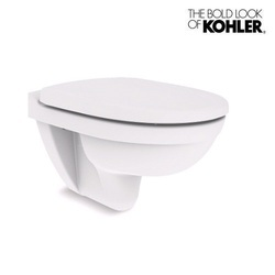 White and Biscuit Kohler Odeon Wall-Hung Ceramic Toilet
