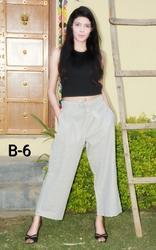 Straight Pants in Cotton