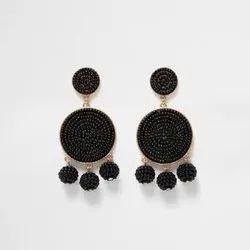 Beaded Earrings Fringe