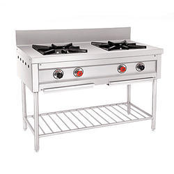 Stainless Steel Two Burner Gas Range