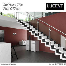 Multicolor Porcelain Stair Tiles, Thickness: 8 - 10 mm, Size: 200x1200 & 300x1200 mm