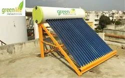 Green Life Evacuated Tube Collector (ETC) Solar Geysers, Capacity: 100 lpd to 500 lpd, Warranty: 5