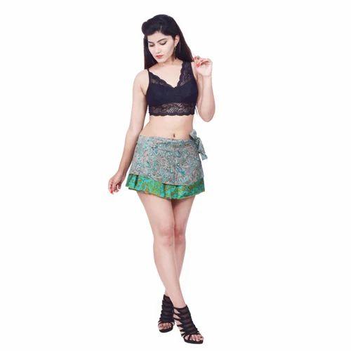 Fancy Indian Sari Wrap Skirts