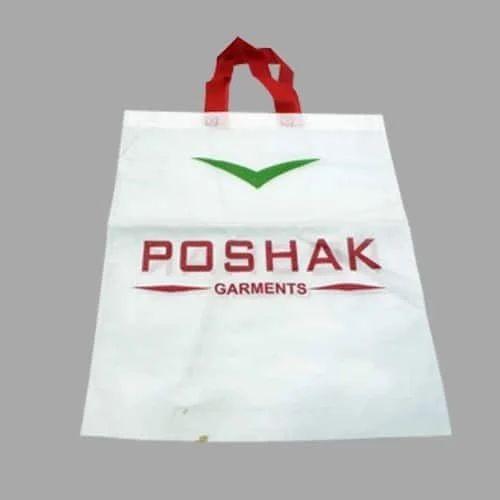 White Non Woven Cloth Carry Bag
