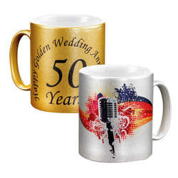 Sublimation Mug (Mug Gold & Silver)