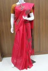 Casual Wear Ladies Silk Cotton Saree, 6.3 m (with blouse piece), Fancy people