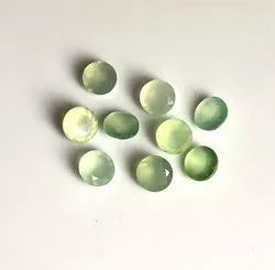 Natural Semi Precious Prehnite Faceted Round Gemstone