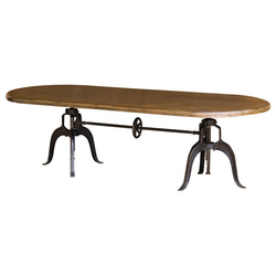 Adjustable Crank Dining Table