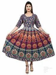 Female Ethnic Wear Single-Dress, Handwash, Size: Xl