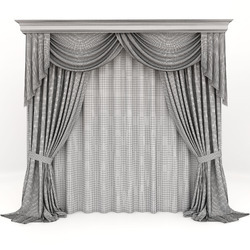 Grey Cotton Designer Window Curtain, Shape: Vertical