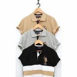 Plain Half Sleeve Mens U.S Polo T-Shirts