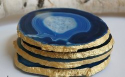 Agate Coaster Electroplating