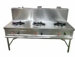 PRIME LPG Three Burner Chinese Cooking Range, For Hotel,Restaurant