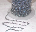 Blue Quartz Coin Rosary Chain