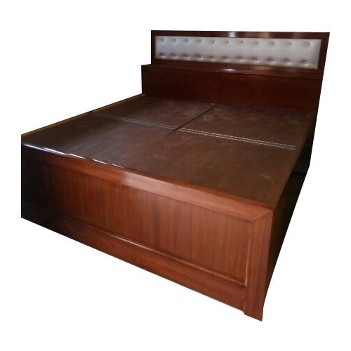 Brown Wooden Double Bed for Home