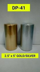 DP-41 Golden/Silver Pillar Candle