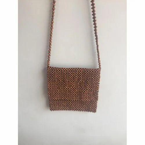 cdd29daec58 Wooden Beaded Bag