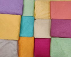 44-45 Plain Beautiful Color Cotton Fabric, For Dress, GSM: 100-150 GSM