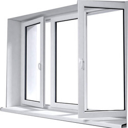 Fortune White UPVC Casement Window, Glass Thickness: 12 Mm